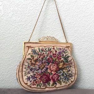 N.B.M • Vintage Floral Tapestry Bag Purse